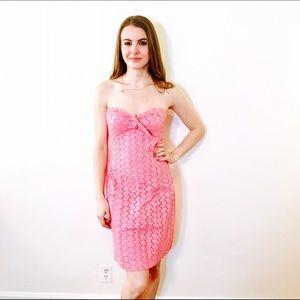 Anthropologie Dresses & Skirts - BETH BOWLEY ANTHROPOLOGIE PINK EYELET DRESS #490