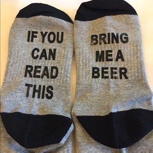 Accessories - New Bring Me a beer ladies socks