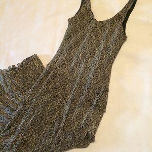 Full skirted maxi dress