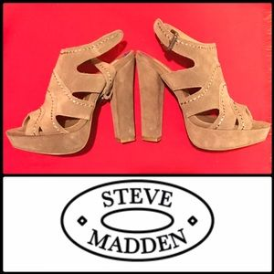 Steve Madden Shoes - New Steve Madden P Ricki Leather Suede Stitched