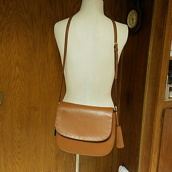 9cf511b703 Ralph Lauren Cobden Saddle bag Messenger Tan