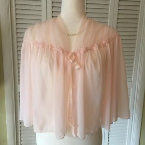 Vanity Fair Other - Rare Vanity Fair Bed Jacket pink Size Large