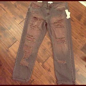 Cello Jeans Denim - NWT Cello Jeans ripped boyfriend cut jeans sz 13