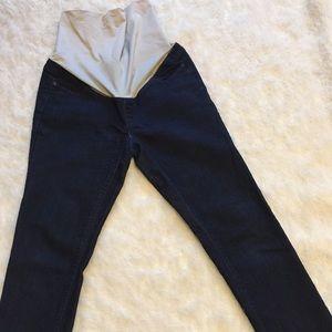 Ann Taylor Denim - Ann Taylor maternity dark wash jeans