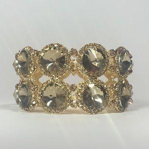 🐿Burlingame Bracelet - Gold and Topaz Crystals
