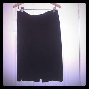 Black plus size skirt