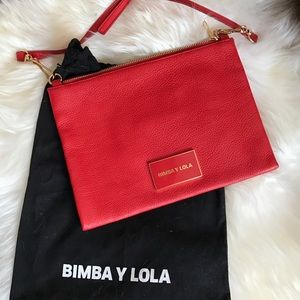 Coral Red Bimba y Lola Leather Purse