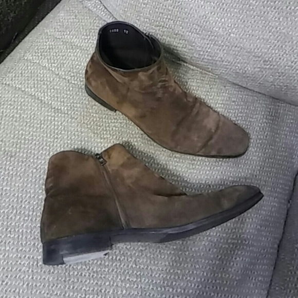 Prada Brown Suede Mens ankle boots  Sz 12