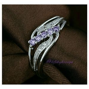 Life by Design  Jewelry - Purple Crystal & Cubic Zirconia set in .925 Silver