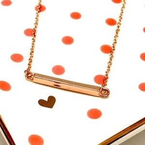 October Love Jewelry - Rose Gold Bar Necklace