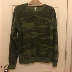 Alternative Apparel Tops - AA Men's S Camouflage Crew Neck Sweatshirt