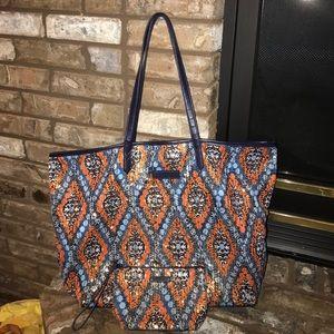 Vera Bradley Handbags - ON SALE- VERA BRADLEY-GOLD SEQUINS w/ blue,orange,