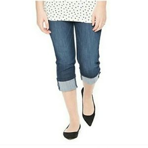 Oh Baby by Motherhood Denim - NWT Maternity Jeans Cropped Roll Up Cuf Blue Jeans