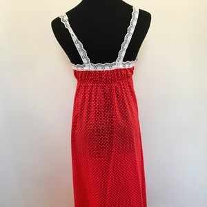 Vintage Intimates & Sleepwear - Vintage polka dot night gown
