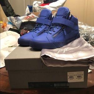 Giuseppe Zanotti Other - NIB Giuseppe Zanotti Blue High Top Sneakers Sz 13
