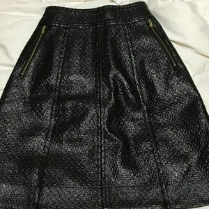 Banana Republic faux leather A line skirt 00p New!