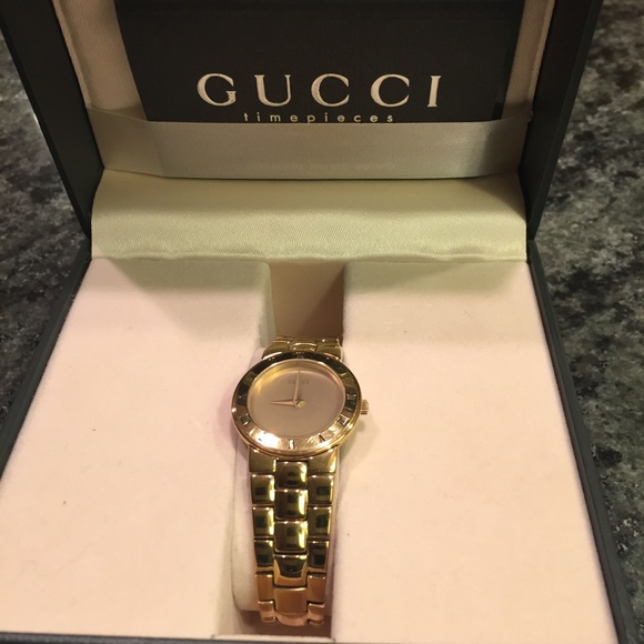9a26ffc191a Gucci Accessories - Vintage Gucci Gold Ladies Watch