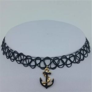 Jewelry - 🌊CLEARANCE🌊Tattoo Choker with Anchor Charm