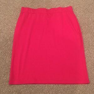 Sunny Leigh Dresses & Skirts - Hot Pink Sunny Leigh Stretch Mini Skirt