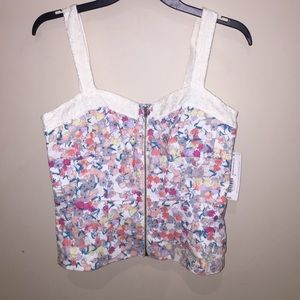 Charlotte Ronson Tops - NWT Floral Bustier Top size 4