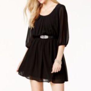 BCX Dresses & Skirts - New Macy's BCX Juniors Black Midi Chiffon Dress