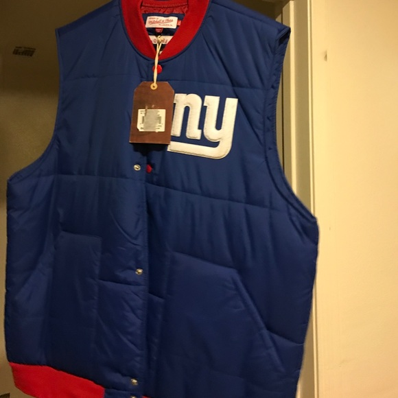 huge selection of 5f679 7a5ca Mitchell & Ness NY GIANTS vest NWT