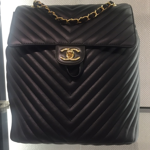 72daffed2e28 CHANEL Bags | Sold Black Chevron Urban Spirit Backpack | Poshmark