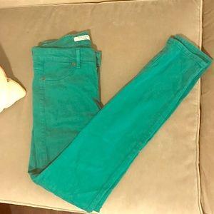 Rich & Skinny Denim - Rich & Skinny Green Skinny Jeans