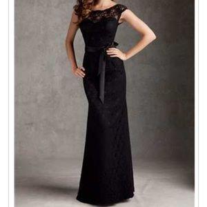 Mori Lee Dresses & Skirts - Long black lace dress BRAND NEW