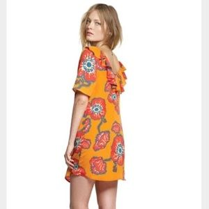 Tucker for Target floral ruffle back tunic dress