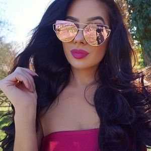 Accessories - Restock Awesome sunglasses pink gold mirrored new