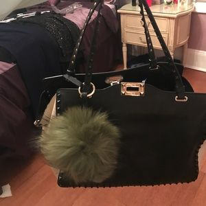 Olive Green fur puff ball brand new