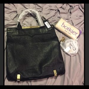 Botkier Handbags - Botkier Black Leather Gansevoort Messenger Bag.