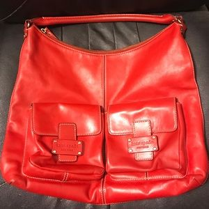 kate spade Handbags - Red leather Kate Spade purse (authentic)