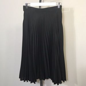 Asos black pleated midi skirt