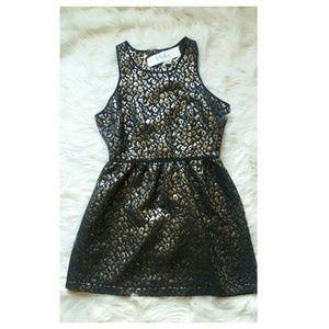 Pinky Dresses & Skirts - Pinky Metallic Skater Dress