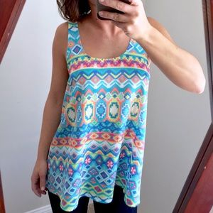 Everly Tops - Everly Aztec Sunset Top