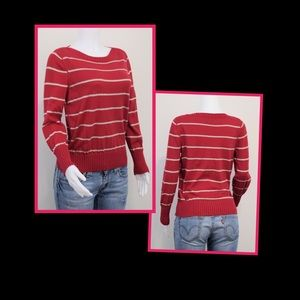 Sonoma Sweaters - 🎉Host Pick! Red & Silver Sweater