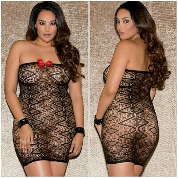 Sexy lingerie for plus size woman