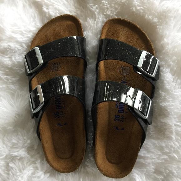 cf49d24e900 Birkenstock Shoes - Birkenstock Arizona Magic Galaxy Black Sandals