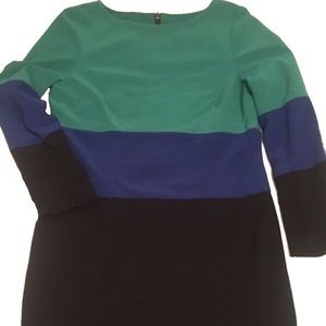 Nordstrom Dresses & Skirts - Adrianna Papell Green&Blue Color-Block Dress sz12