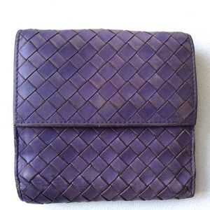 Bottega Veneta Handbags - BOTTEGA VENETA Purple woven leather wallet