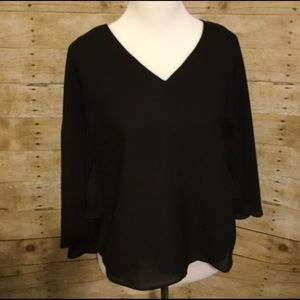 Tops - Black poncho top