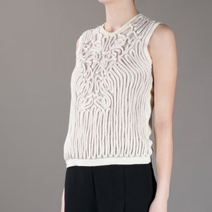 Carven Tops - CARVEN CREAM KNIT ROPE TOP #472