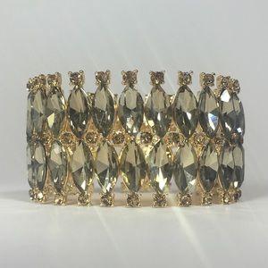 ⚱️Devonshire Bracelet - Gold with Gold Crystals