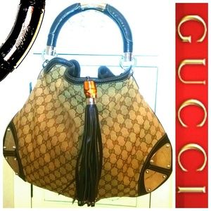 AUTH GUCCI LARGE INDY HOBO BAG SALE