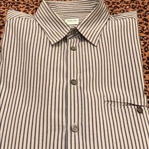Armani Collezioni Other - Armani Collezioni Dress Shirt - Blue /Gray Stripe