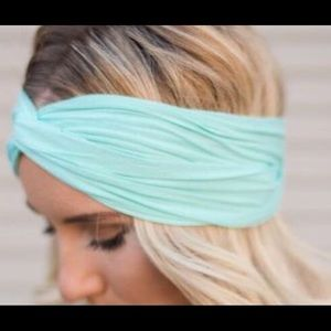 Accessories - NEW! Mint-Green Jersey Material Twisted Headband!