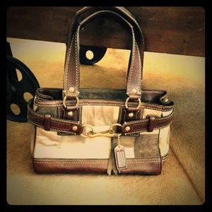 SALECoach suede leather bag