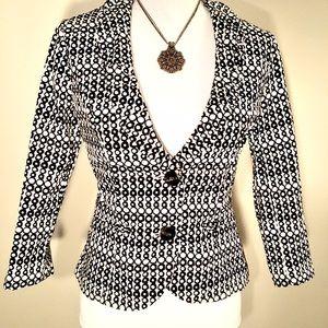CABI Black and White Blazer/Jacket. Size 2.